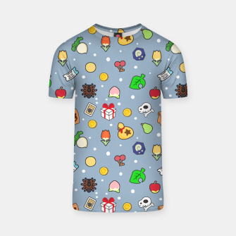 Miniatur animal crossing cute pattern blue Camiseta, Live Heroes
