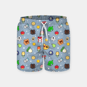 Miniatur animal crossing cute pattern blue Pantalones de baño, Live Heroes