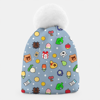 Miniatur animal crossing cute pattern blue Gorro, Live Heroes