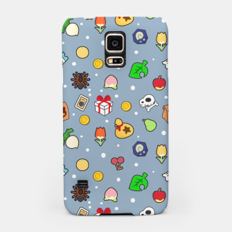 Miniatur animal crossing cute pattern blue Carcasa por Samsung, Live Heroes