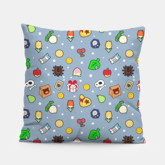 Miniatur animal crossing cute pattern blue Almohada, Live Heroes