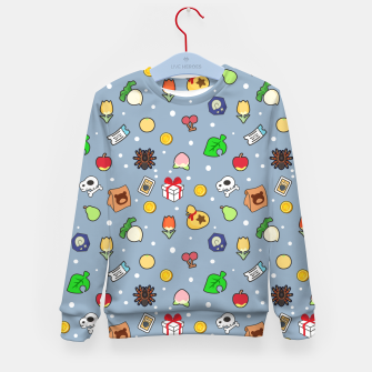 Miniatur animal crossing cute pattern blue Sudadera para niños, Live Heroes