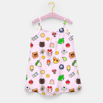 Thumbnail image of animal crossing cute pattern pink Vestido para niñas, Live Heroes