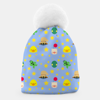 Miniatur final fantasy cute pattern blue Gorro, Live Heroes