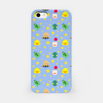 Miniatur final fantasy cute pattern blue Carcasa por Iphone, Live Heroes
