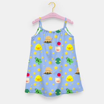 Thumbnail image of final fantasy cute pattern blue Vestido para niñas, Live Heroes