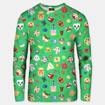 Thumbnail image of animal crossing cute villagers grass pattern Sudadera unisex, Live Heroes