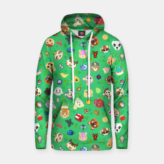 Thumbnail image of animal crossing cute villagers grass pattern Sudadera con capucha, Live Heroes