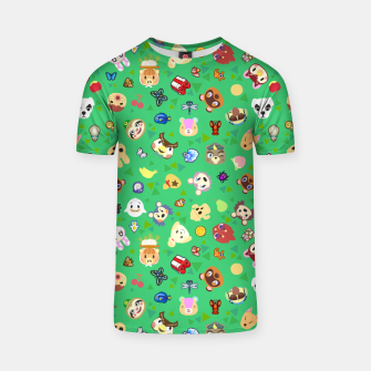 Thumbnail image of animal crossing cute villagers grass pattern Camiseta, Live Heroes