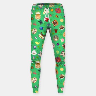 Thumbnail image of animal crossing cute villagers grass pattern Pantalones de chándal , Live Heroes
