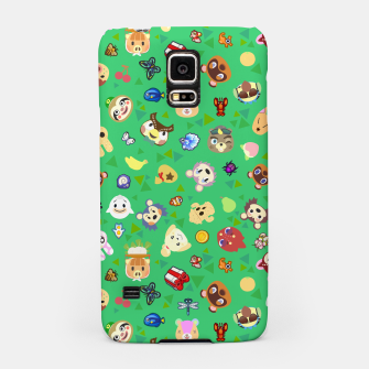 Thumbnail image of animal crossing cute villagers grass pattern Carcasa por Samsung, Live Heroes