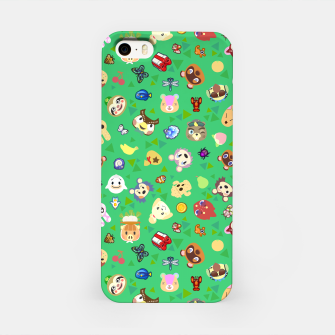Thumbnail image of animal crossing cute villagers grass pattern Carcasa por Iphone, Live Heroes