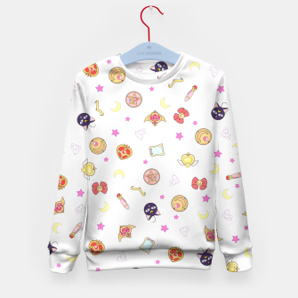 Thumbnail image of sailor moon cute pattern Sudadera para niños, Live Heroes