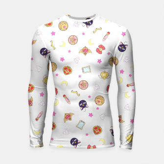 Thumbnail image of sailor moon cute pattern Longsleeve rashguard, Live Heroes