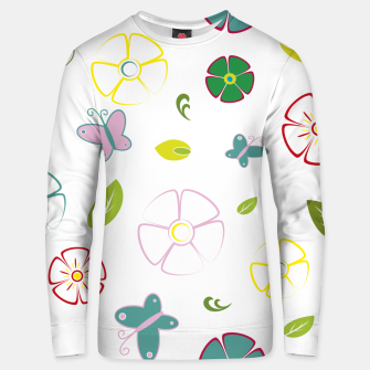 Flowers garden on white Sudadera unisex miniature