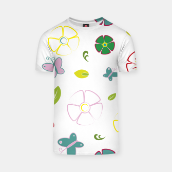 Flowers garden on white Camiseta miniature