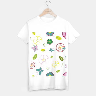 Flowers garden on white Camiseta Regular miniature