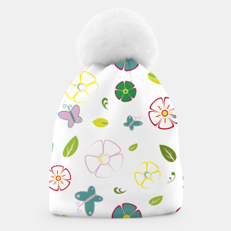 Flowers garden on white Gorro miniature