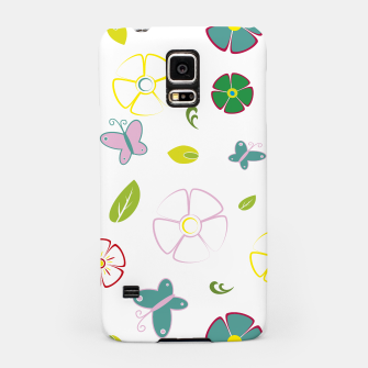 Flowers garden on white Carcasa por Samsung miniature