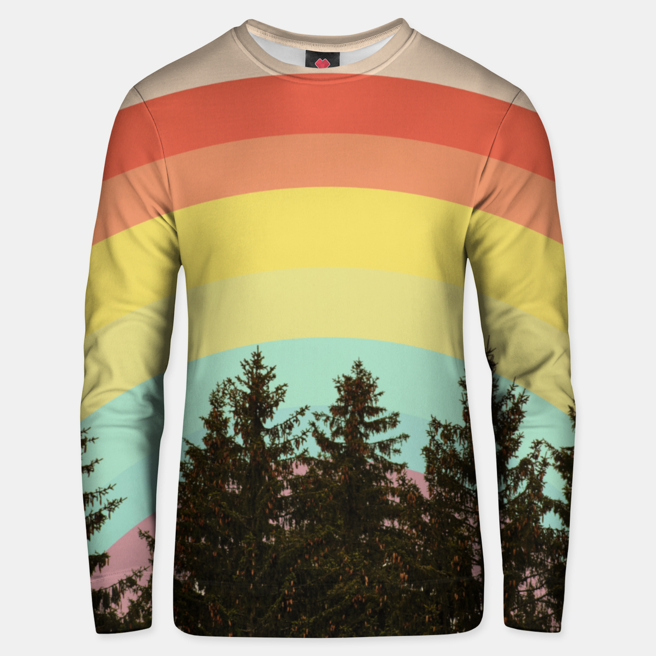 Foto Forest rainbow Unisex sweater - Live Heroes
