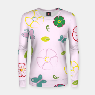 Thumbnail image of Garden flowers on pink Sudadera para mujeres, Live Heroes