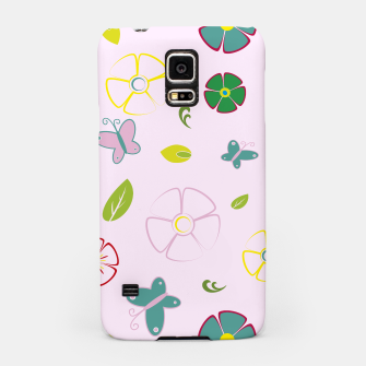 Thumbnail image of Garden flowers on pink Carcasa por Samsung, Live Heroes