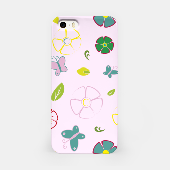 Miniature de image de Garden flowers on pink Carcasa por Iphone, Live Heroes