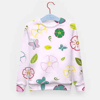 Thumbnail image of Garden flowers on pink Sudadera para niños, Live Heroes