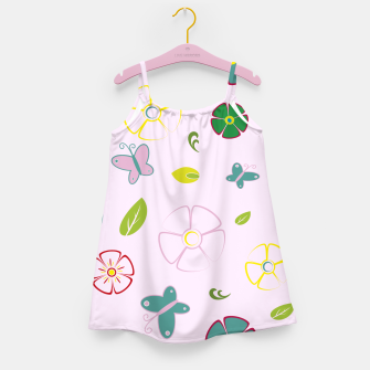 Thumbnail image of Garden flowers on pink Vestido para niñas, Live Heroes