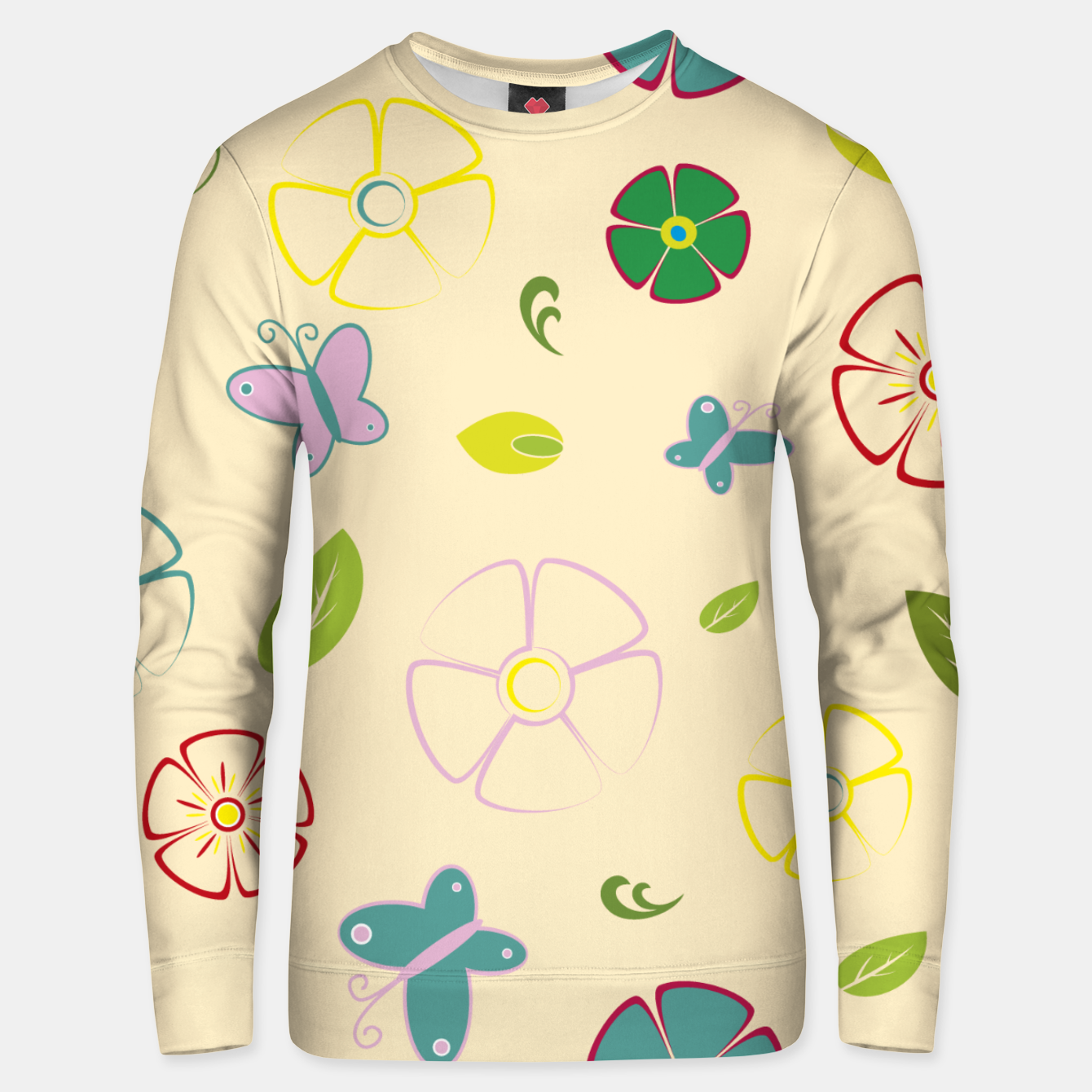 Image de Garden flowers on yellow Sudadera unisex - Live Heroes