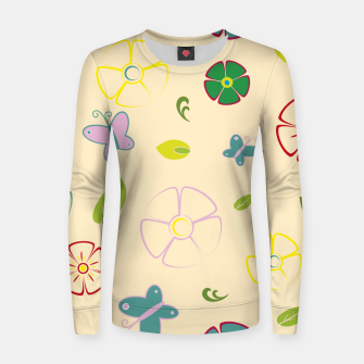 Garden flowers on yellow Sudadera para mujeres miniature