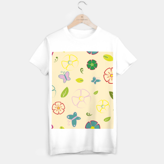 Miniature de image de Garden flowers on yellow Camiseta Regular, Live Heroes