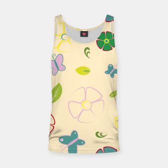 Garden flowers on yellow Camiseta de tirantes miniature