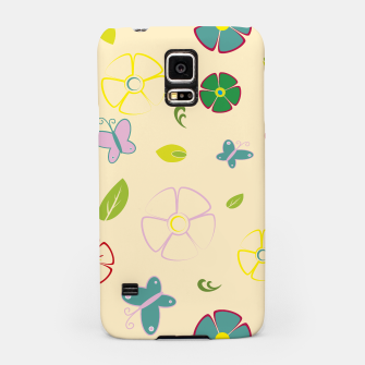 Garden flowers on yellow Carcasa por Samsung miniature