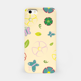 Miniature de image de Garden flowers on yellow Carcasa por Iphone, Live Heroes
