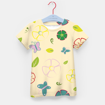 Garden flowers on yellow Camiseta para niños miniature