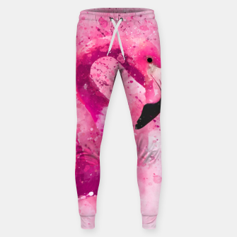 Thumbnail image of Flamingo Pink Pop Culture Animal Bird Watercolor Sweatpants, Live Heroes