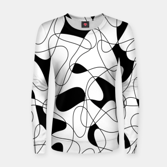 Thumbnail image of Abstract pattern - black and white. Women sweater, Live Heroes