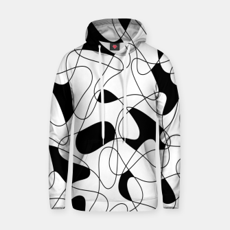 Thumbnail image of Abstract pattern - black and white. Hoodie, Live Heroes