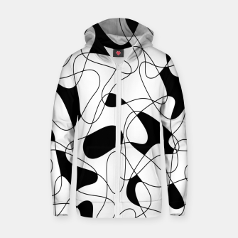 Thumbnail image of Abstract pattern - black and white. Zip up hoodie, Live Heroes