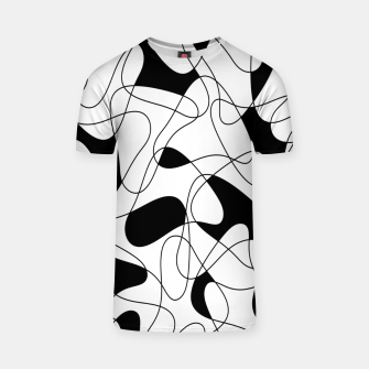 Thumbnail image of Abstract pattern - black and white. T-shirt, Live Heroes