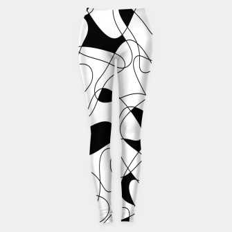 Thumbnail image of Abstract pattern - black and white. Leggings, Live Heroes