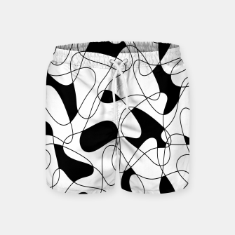 Thumbnail image of Abstract pattern - black and white. Swim Shorts, Live Heroes