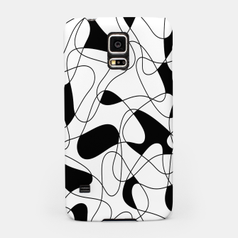 Miniaturka Abstract pattern - black and white. Samsung Case, Live Heroes