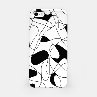 Thumbnail image of Abstract pattern - black and white. iPhone Case, Live Heroes