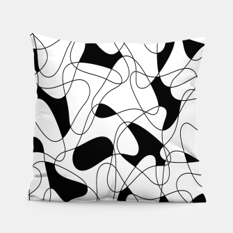 Thumbnail image of Abstract pattern - black and white. Pillow, Live Heroes