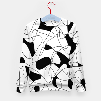 Thumbnail image of Abstract pattern - black and white. Kid's sweater, Live Heroes
