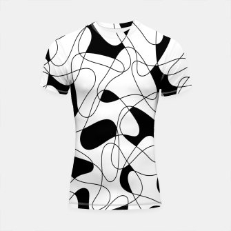 Miniatur Abstract pattern - black and white. Shortsleeve rashguard, Live Heroes