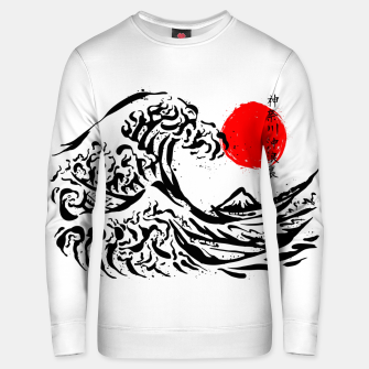 Thumbnail image of The Great Wave off kanagawa Ink Unisex sweater, Live Heroes