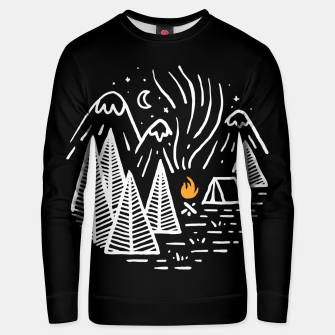Thumbnail image of Camping and Bonfire Unisex sweater, Live Heroes